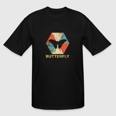 Vintage Polygon Butterfly - Men's Tall T-Shirt