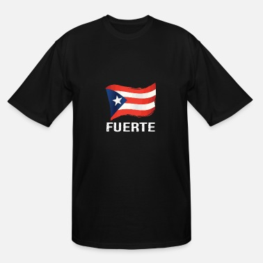 Aman Puerto Rico Strong Fuerte Camiseta Distressed - Men's Tall T-Shirt