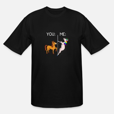 Cowgirl Unicorn Horse & Unicorn Pole Dance You & Me Gift & Present - Men's Tall T-Shirt