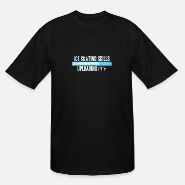 Upload Ice Skating Skills Uploading Gift Christmas - Men's Tall T-Shirt