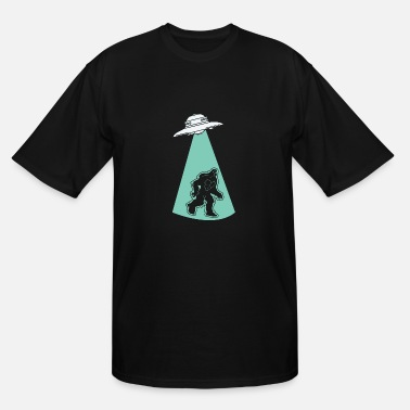 Hijack UFO Alien Flying Saucer Abduction Hijacking Yeti - Men's Tall T-Shirt