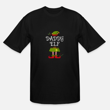 Christmas Daddy Elf Shirt , Family Matching Group Christmas - Men's Tall T-Shirt