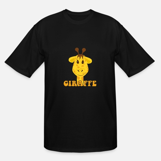 Christmas Present T-Shirts - Giraffe Kids Illustration Drawing Birthday gift - Men's Tall T-Shirt black