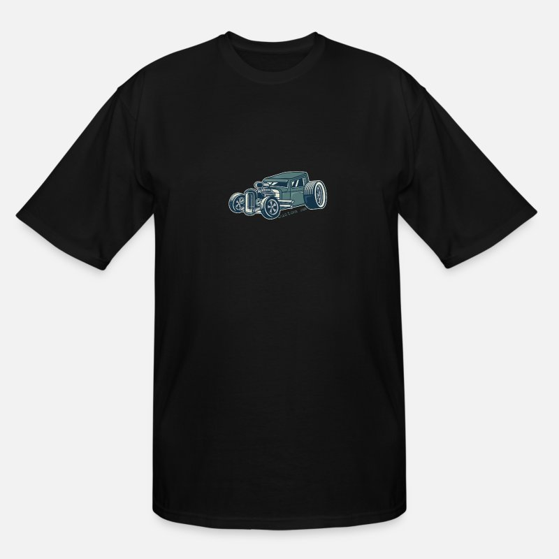 Hot Rod T-Shirts - Rat Rod Hot Rod Green - Men's Tall T-Shirt black
