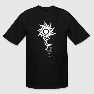 Sun Tattoo Tattoo with sun, moon and stars. - Men's Tall T-Shirt