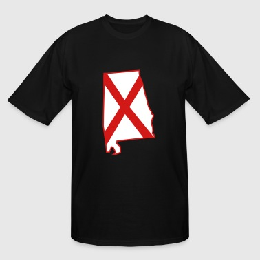 Alabama State Flag Alabama - Men's Tall T-Shirt