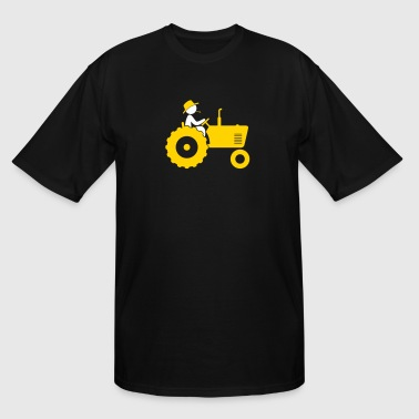 Farmer On Tractor - Men's Tall T-Shirt