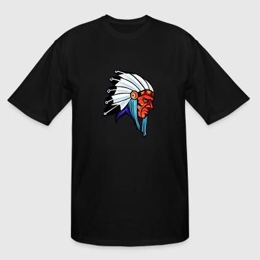 side_looking_indian - Men's Tall T-Shirt