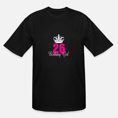 26 Years Old Birthday Girl 26 Years Old - Men's Tall T-Shirt