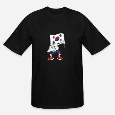 South Korea Soccer South Korea Dabbing Soccer Ball - Men's Tall T-Shirt