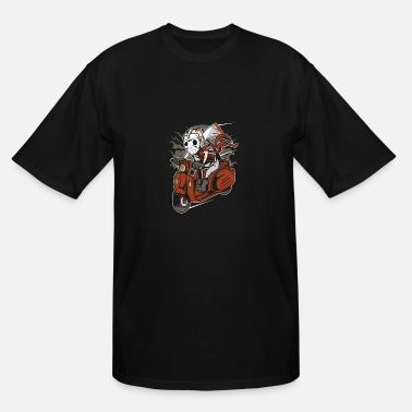 Scooter Scary Scooter - Men's Tall T-Shirt