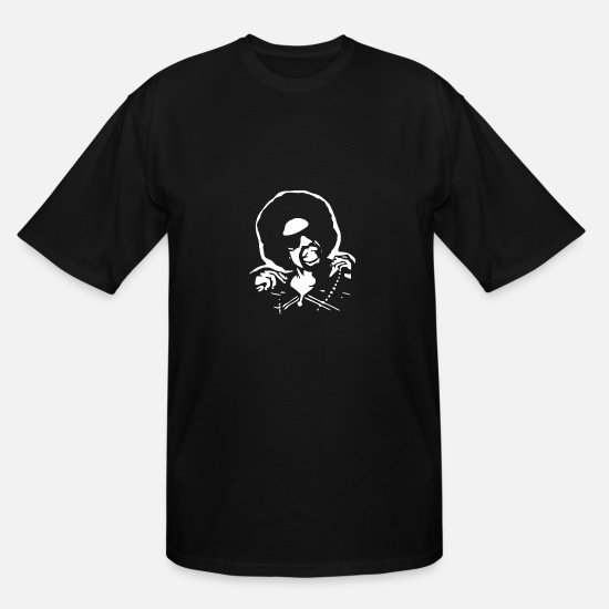 Art T-Shirts - Mac Dre Airbrush Stencil - Men's Tall T-Shirt black
