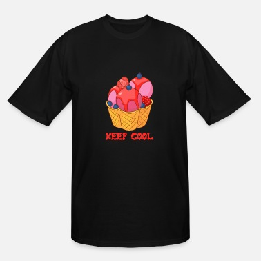 Sherbet Ice cream Gelato Sundae Summer Sherbet Food - Men's Tall T-Shirt