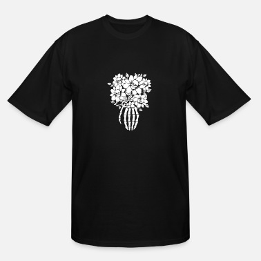 Skull Flower Flower Skull - Men's Tall T-Shirt