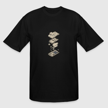 GameBoy Breakdown - Men's Tall T-Shirt