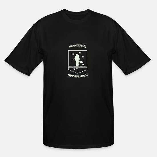 Marine Animal T-Shirts - Marine Raider Memorial March - Men's Tall T-Shirt black