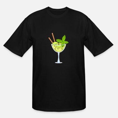 Sherbet Icecream Gelato Sundae Summer Sherbet Food - Men's Tall T-Shirt