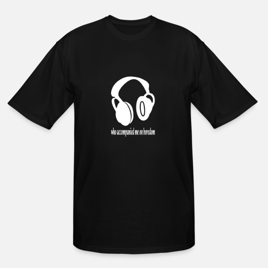 Awesome T-Shirts - Headphones - Men's Tall T-Shirt black