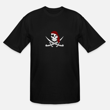 Roger Jolly Roger Pirate Flag - Men's Tall T-Shirt