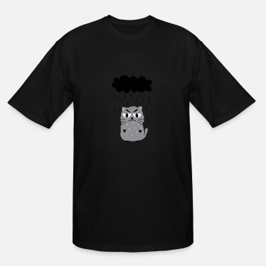 Angry Cat Cartoon Angry cat - Men's Tall T-Shirt