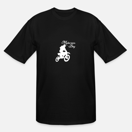 Birthday T-Shirts - Motocross Boy - Men's Tall T-Shirt black