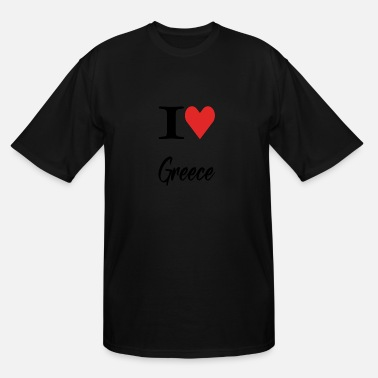 I Love Greece Love I Love Greece - Men's Tall T-Shirt