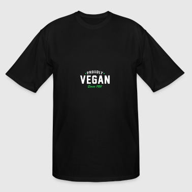 Proudly Vegan since 1981 - Men's Tall T-Shirt