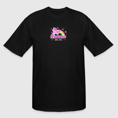 Awesome Since 2016 Birthday Year Of Birth Unicorn - Men's Tall T-Shirt