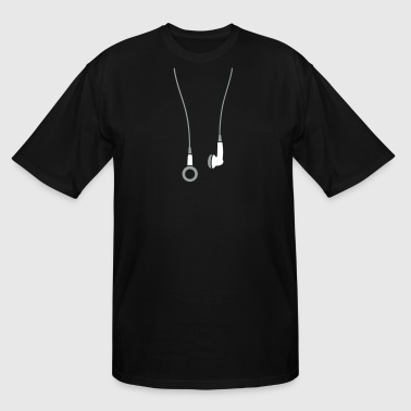 Earphone Jokes Earphones 2clr - Men's Tall T-Shirt