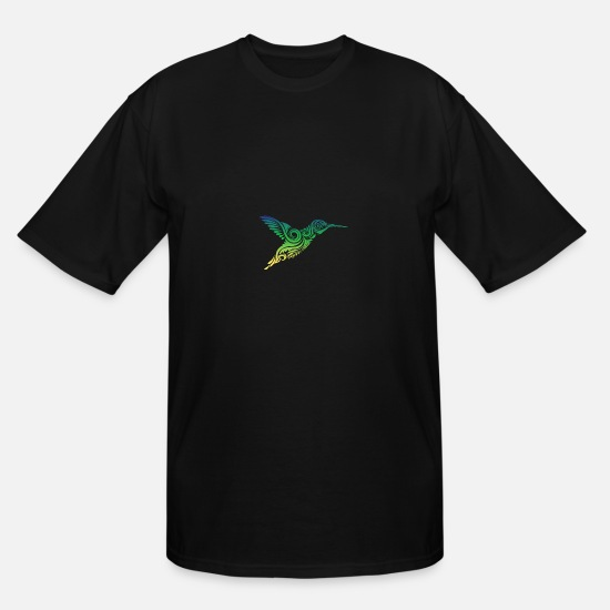 Hummingbird T-Shirts - Hummingbird Ornamental - Men's Tall T-Shirt black