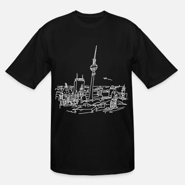 Alexanderplatz Panorama of Berlin - Men's Tall T-Shirt