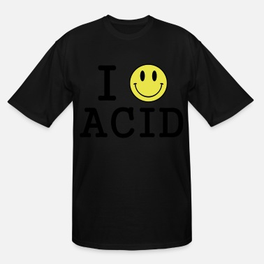 Acid Techno I love Acid / LSD / Drugs - Men's Tall T-Shirt