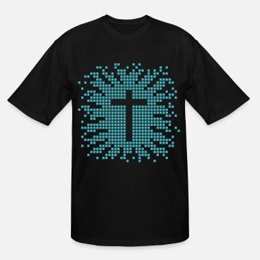 Christian Symbols Geek cross - church - religion - jesus - design - Men's Tall T-Shirt