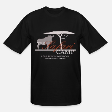 Wildebeest Wildebeest - Gnu - Safari Camp - Men's Tall T-Shirt