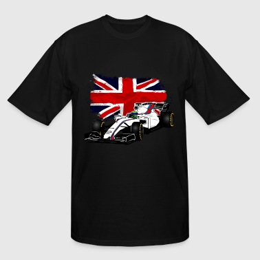 Formula One - Formula 1 - UK Flag - Men's Tall T-Shirt