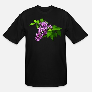 Lilac Lilacs and Leaves - Men's Tall T-Shirt