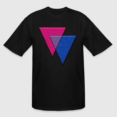 Bisexual Pride Triangles  - Men's Tall T-Shirt