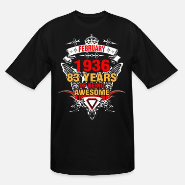 1936 February 1936 83 Years of Being Awesome - Men's Tall T-Shirt