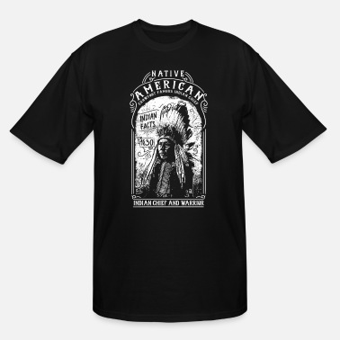 American Warrior Native American Chief, Warrior - Men's Tall T-Shirt