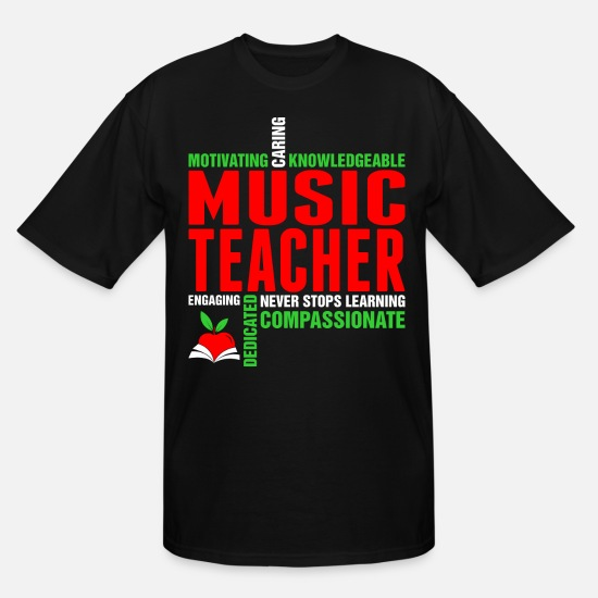 Birthday T-Shirts - Motivating Caring Knowledgeable Music Teacher Tshi - Men's Tall T-Shirt black