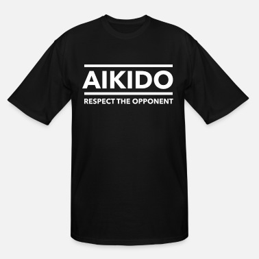 Positive Energy Vintage Aikido Gift for Japanese Martial Arts Fans and Lovers of Energy, Fighting and Combat Sports - Men's Tall T-Shirt