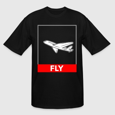 Airplane Flying Airplane Fly - Men's Tall T-Shirt
