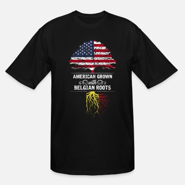 Belgian Roots American Grown With Belgian Roots - Men's Tall T-Shirt