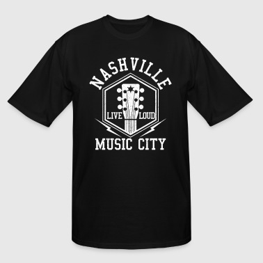 Loud City Nashville Tennessee - Country Music City - Men's Tall T-Shirt