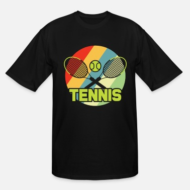 Global Player Tennis Sports Tennis Player Court Racket Gift Ball - Men's Tall T-Shirt