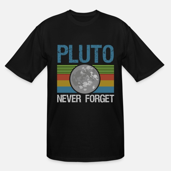 Pluto T-Shirts - Pluto - Men's Tall T-Shirt black