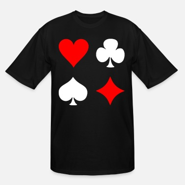 Pik Poker Cross Pik Heart Check - Men's Tall T-Shirt