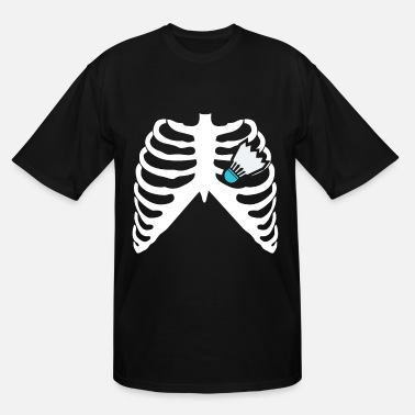 Badminton Heart Beat MY HEART BEATS FOR BADMINTON! I LOVE BADMINTON! - Men's Tall T-Shirt