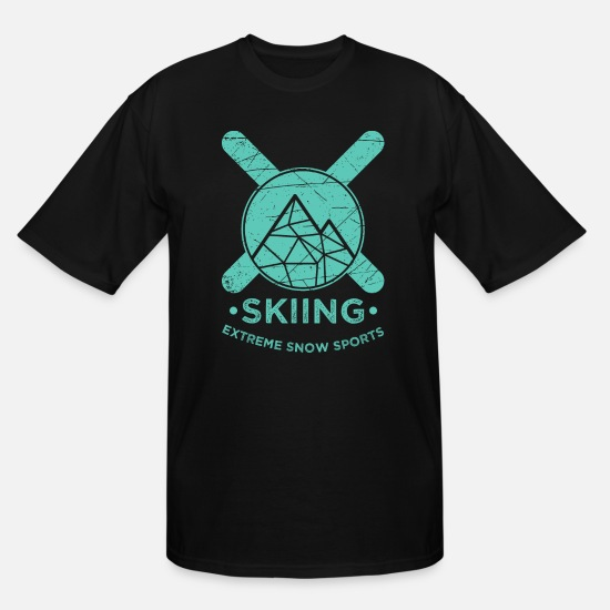 Mountains T-Shirts - Skiing winter sports mountains gift alpine ski - Men's Tall T-Shirt black