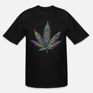 Trippy Weed Psychedelic Green #4 - Men's Tall T-Shirt